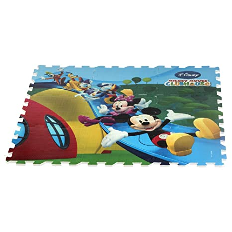 0bc16b73595 ColorBaby - Alfombra puzzle goma Eva de Mickey Mouse Clubhouse