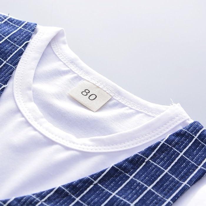 1decc227f0ae ... vestiti abiti Sets bambini Baby Boy Abbigliamento Gentleman Suit Top e  Plaid pantalone. Indietro. Tocca ...