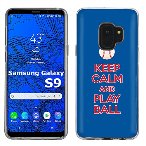 [Mobiflare] Samsung Galaxy S9 TPU Silicone Phone Case for [Clear] Ultraflex Thin Gel Phone Cover | Screen Protector Included | - [Play Ball - Philadelphia]