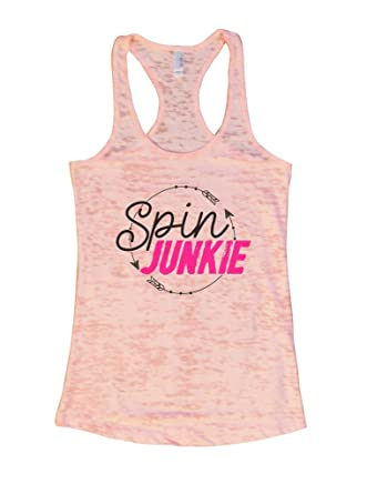 "937f3642981bb Women s Spinning Class Tank Top ""Spin Junkie"" Ladies Exercise Shirt - Funny  Threadz"