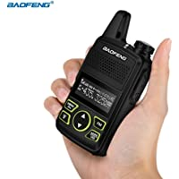Bulary Mini Talkie-walkie Ultra-Mince 400-420MHZ, Radio portative Nouveau Dual Ham Radio transmetteur émetteur-récepteur USB interphone bi-Voie Radio (1pcs)