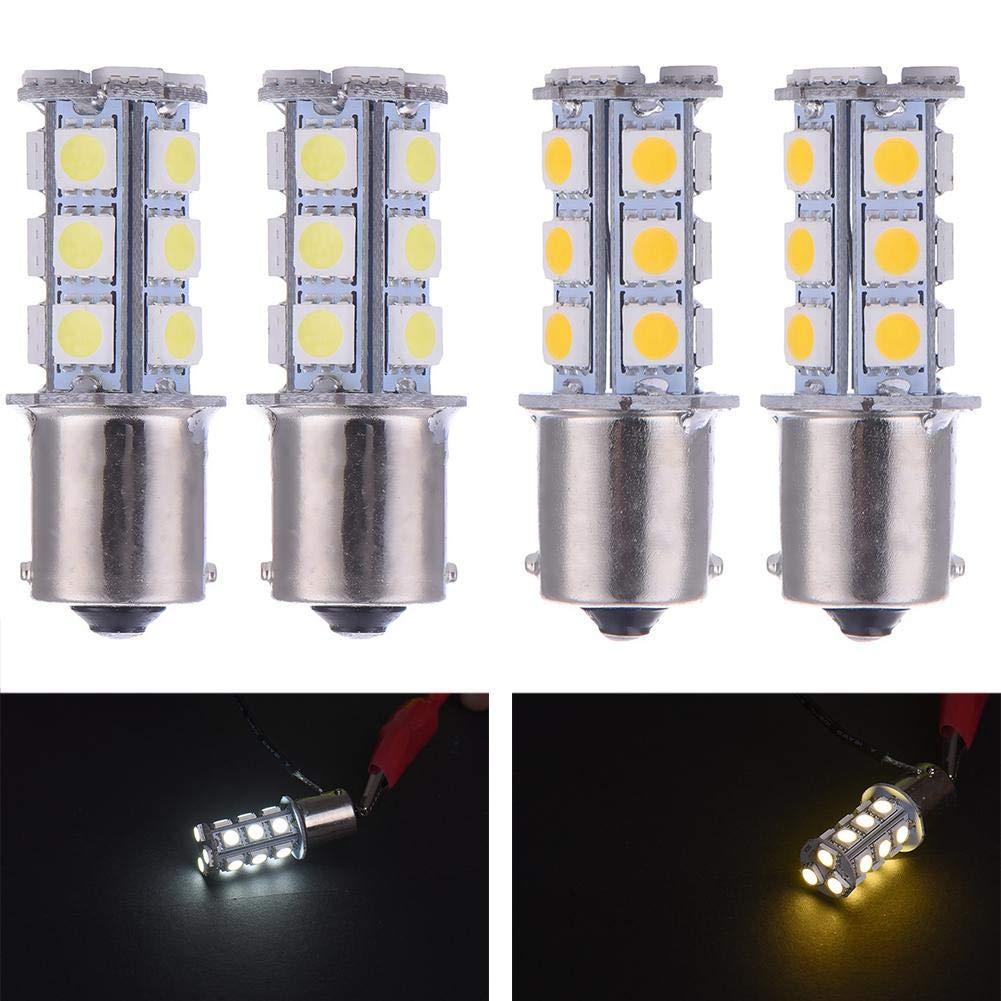 1156 5050 18smd LED Signal De Direction R/étro-/éclairage Feu Clignotant Feu Arri/ère LED X 2 azurely Blanc Chaud S25 BA15S