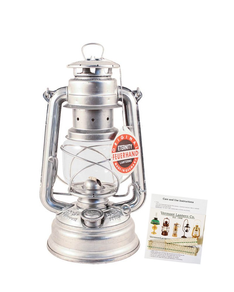 Feuerhand Hurricane Lantern - German Made Oil Lamp 10'' - with Care Pack