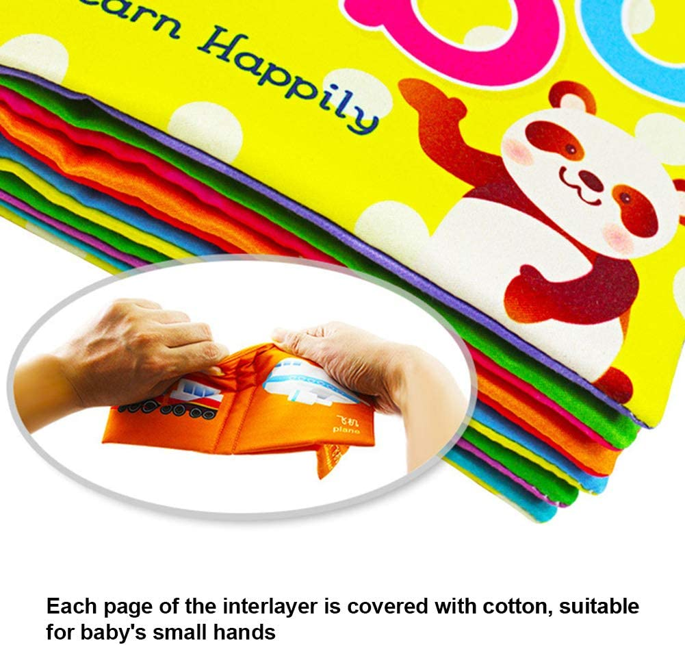 Kinder Stoff Buch Alphabet Briefe Karten Baby Ungiftig Früh Lernen Spielzeug