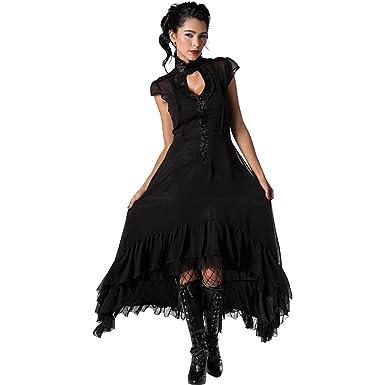 Amazon Jawbreaker Romantic Flowing Chiffon High Low Dress Black