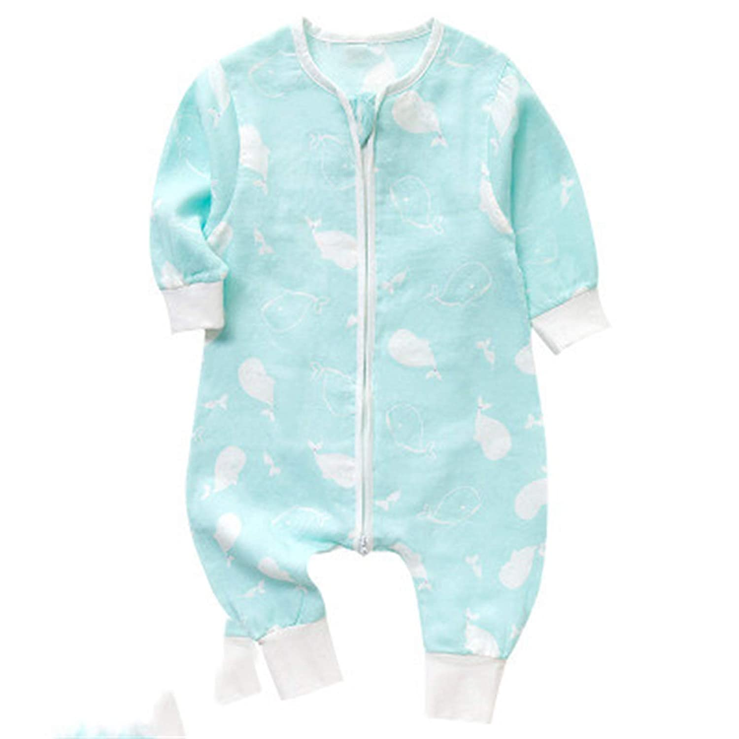 Elonglin Unisex Baby Jumpsuit Long Sleeve Cotton Romper Pajama Playsuit Outfit