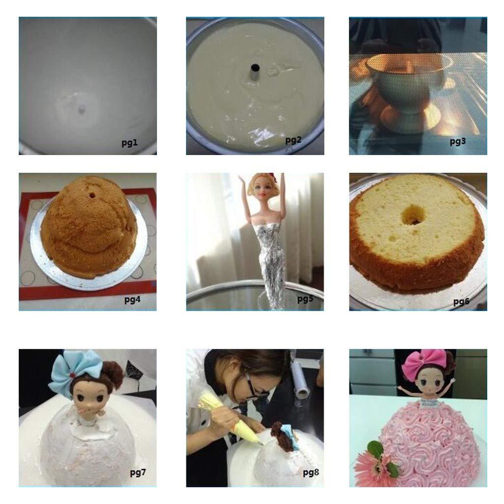 Belloc 2019 Mold Doll Princess Cake Decoration Aluminum Cake Baking Tray Baking Housewarming /& Wedding Gift