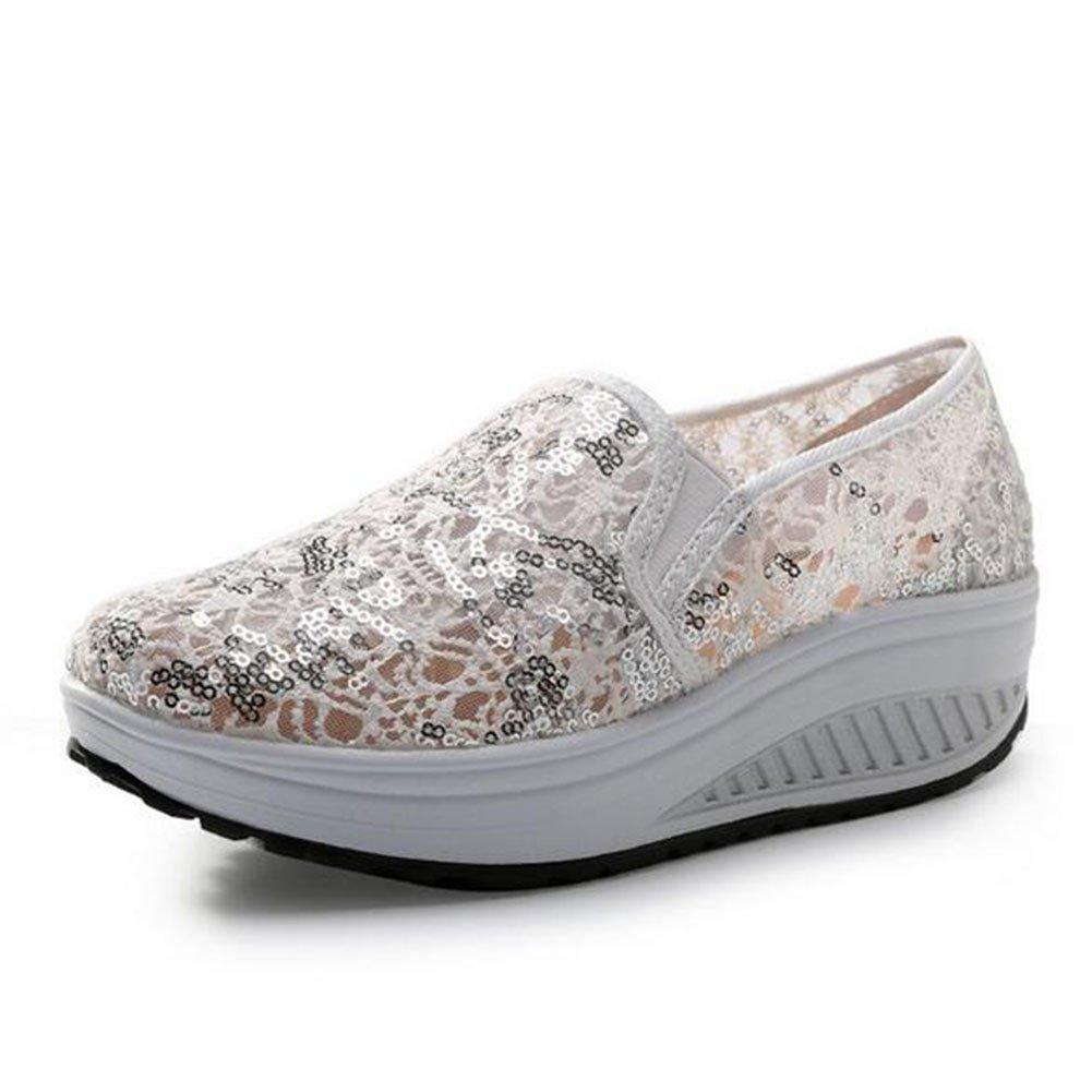 Zapatos Casuales de Las Mujeres, Zapatos de la Sacudida Zapatos de Plataforma Huecos del Verano/Zapatos de la Agitación del (Color : 01, Tamaño : 37) 37|01