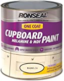 Ronseal One Coat Cupboard Melamine and MDF Paint Magnolia Satin 750ml