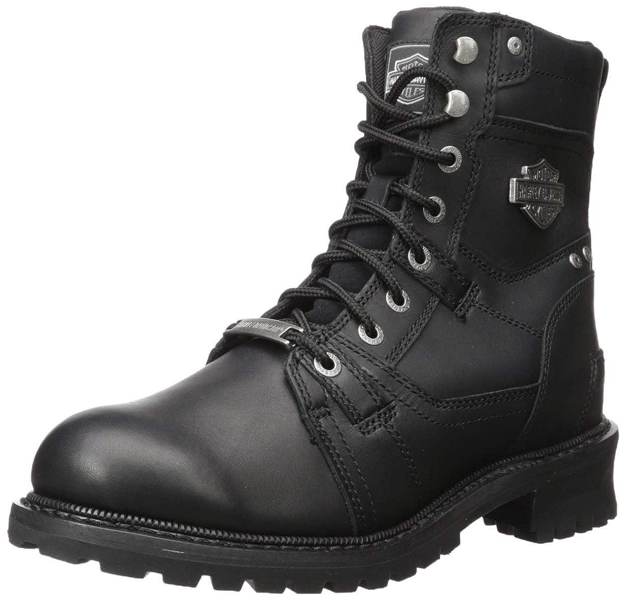 Black Harley-Davidson Men's Haines Motorcycle Boot,