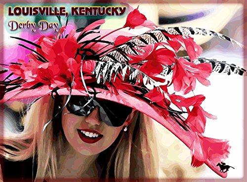 MAGNET Louisville Kentucky Horse Race Derby Day Vintage Travel Advertisement Magnet