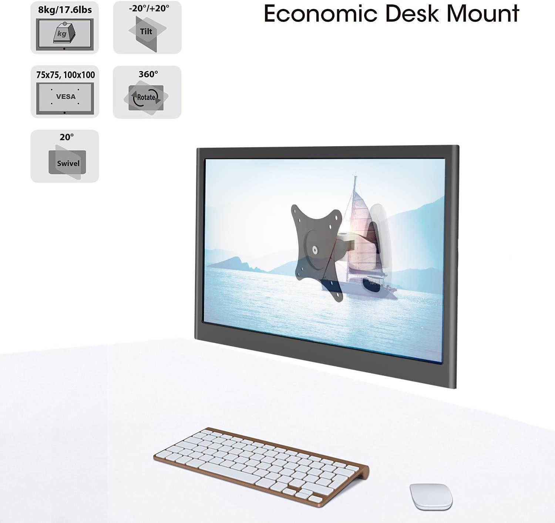 HF36B HFTEK/® HF36B Supporto da parete Supporto da scrivania per Monitor Staffa da Parete per TV 17-37 pollici