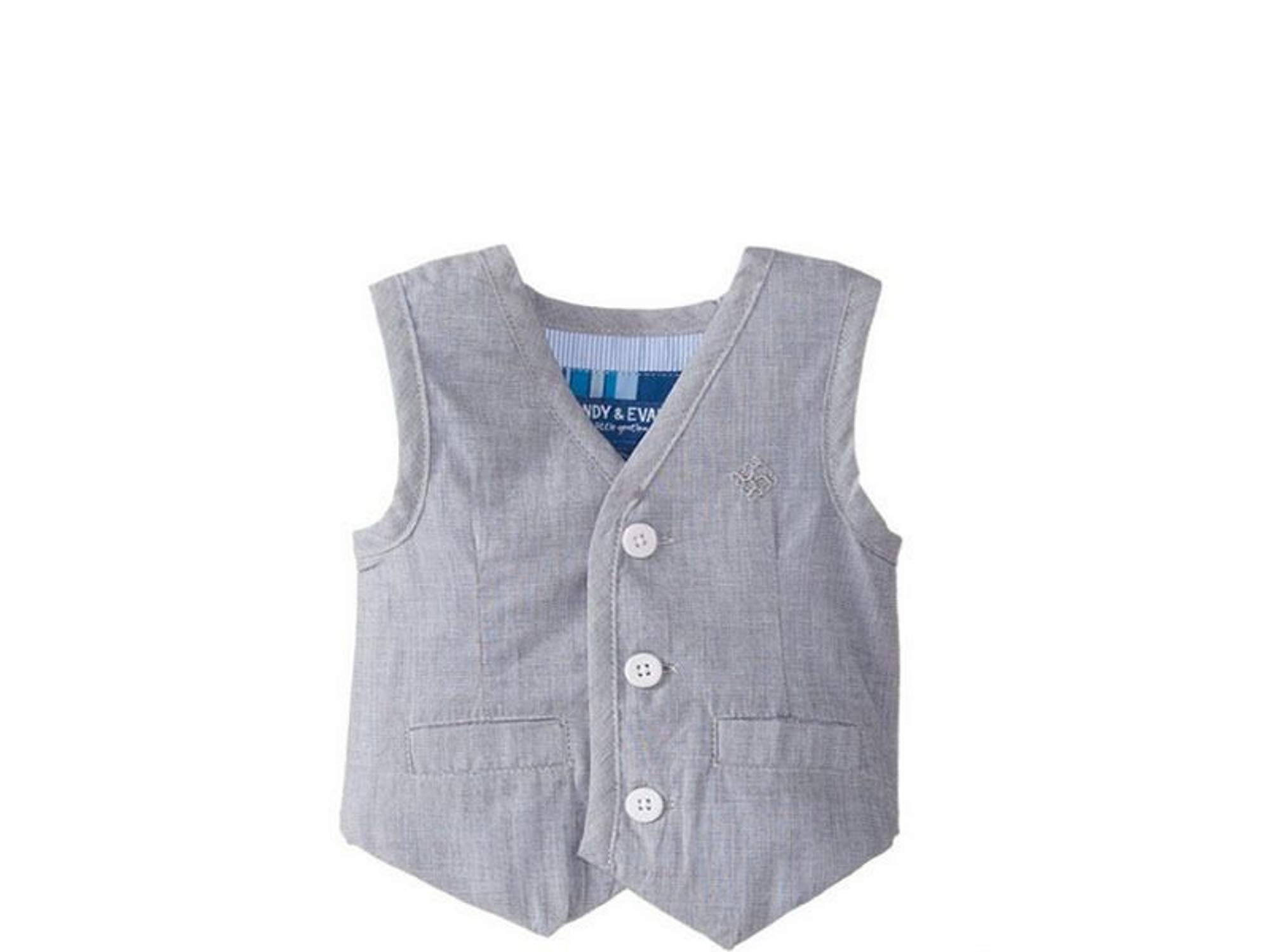 Andy & Evan Grey Little Boy's Chambray Vest (4T)