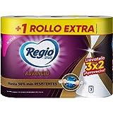 Regio Toallas De Papel Regio Advanced, 2 Rollos + 1 Gratis, color, 3 count, pack of/paquete de
