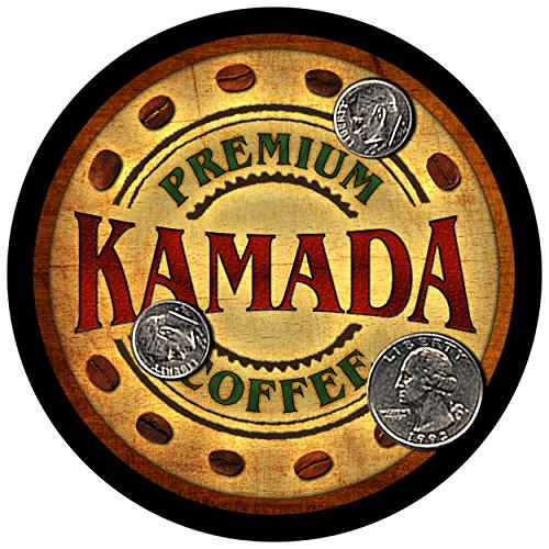 Kamada Family Coffee Rubber Drink Coasters   Set Of 4