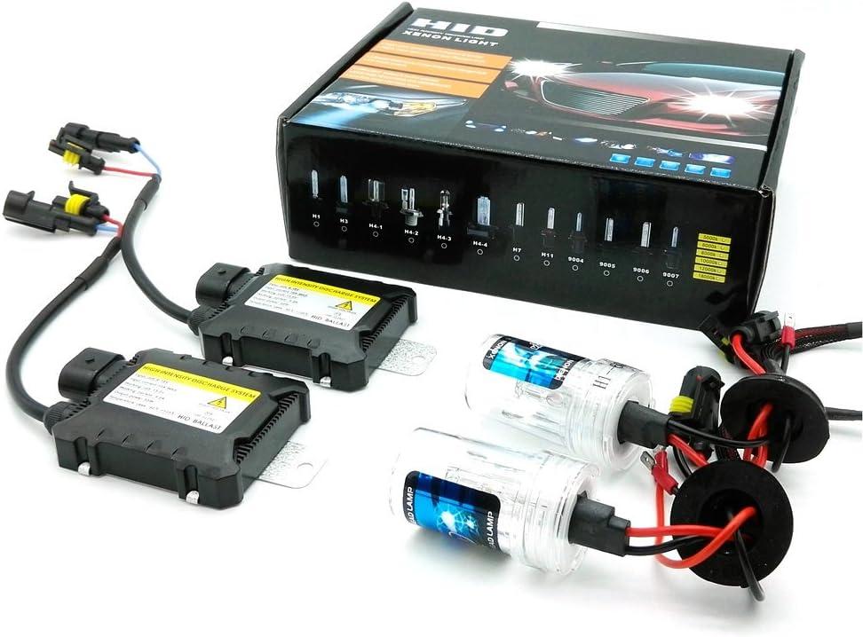 Kit de remplacement HID Xenon Light par Heinmo Xenon H3 H7 H9 H11 H8 H1 9005 9006 880 881 HB3 HB4 1 paire de phares HID de 55/W