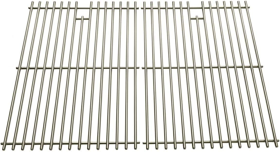 Stainless Steel Replacement Cooking Grid for Charmglow, Charbroil, Kenmore, Sunbeam, Arkla, Broil King, Coleman and Jacuzzi JC-4010, JC-4020, Gas Grill Models, Set of 2