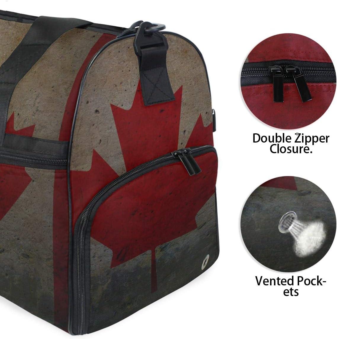 Travel Duffels Misc Flag Of Canada Duffle Bag Luggage Sports Gym for Women /& Men