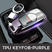 YYKKO For Car Styling Car Key Fob Cover For Audi A4 4M 8S Allroad B9 Q5 Q7 Tt Tts 3Btn Remote Keyless Tpu Protect Case