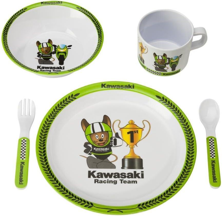 Kawasaki Cuddle Baby Children/'s 4/Piece Cutlery Set