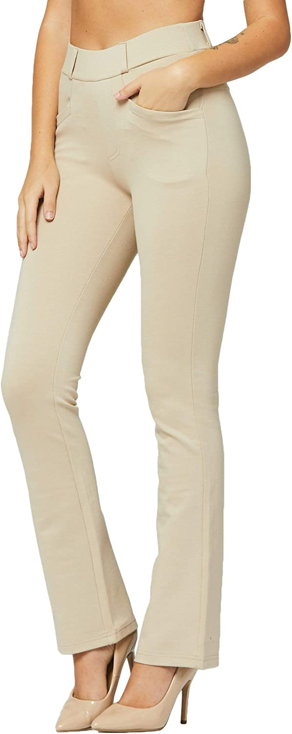 Premium Women's Stretch Dress Pants with Pockets - Wear to Work - Regular  and Plus Size at Amazon Women's Clothing store