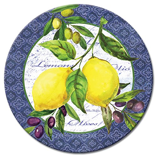 CounterArt Lemons & Olives Glass Lazy Susan Serving Plate, 13'' by CounterArt (Image #3)