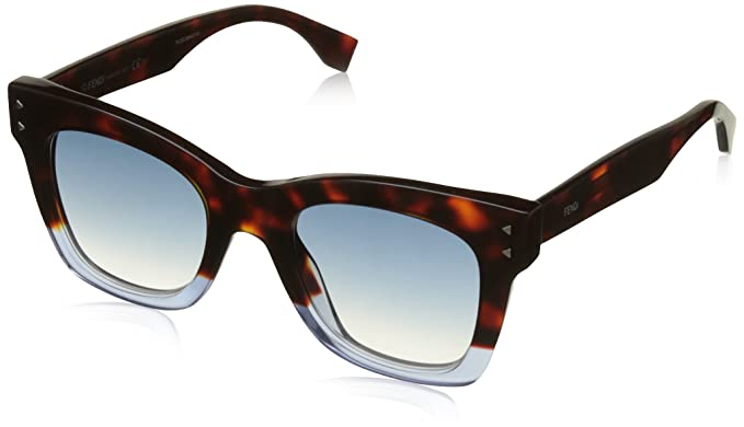 Fendi Mujer FF 0237/S 08 IPR Gafas de sol, Azul (Havana Blue ...