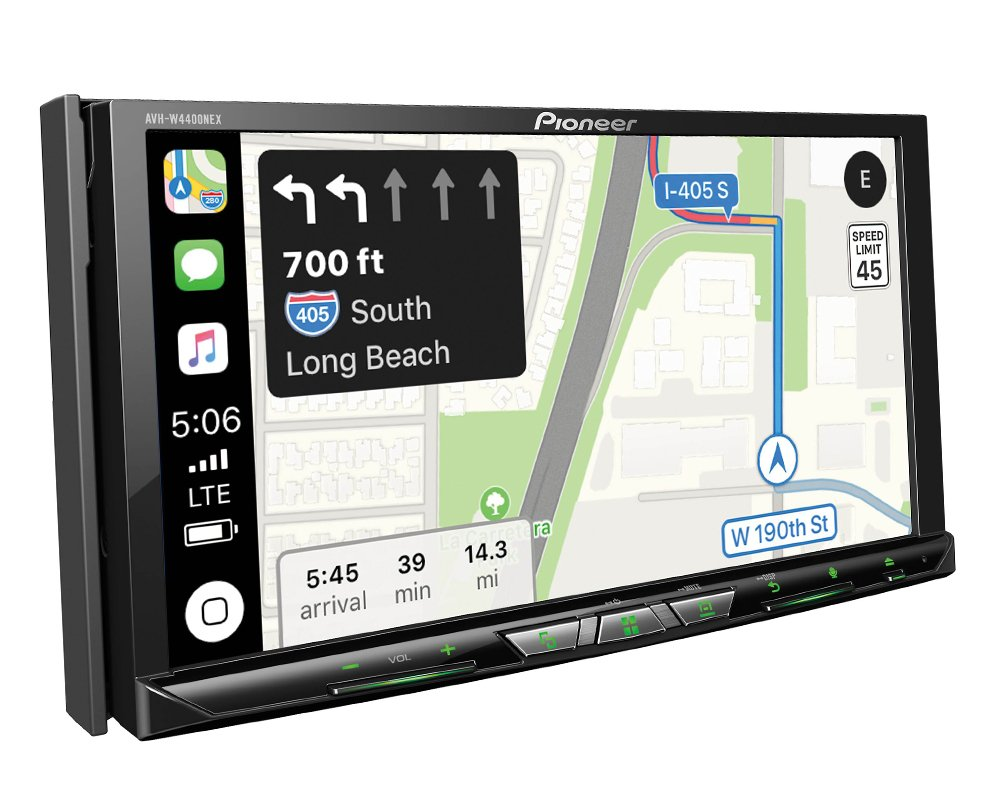 Pioneer AVH-W4400NEX in Dash Multimedia Receiver with 7 WVGA Clear Resistive Touchscreen Display