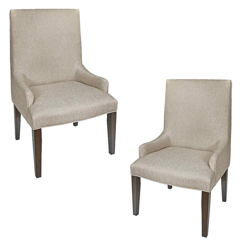 New Classic Furniture D2264-21 San Juan Upholstered Arm Chair, Set of 2, Distressed Espresso by New Classic Furniture