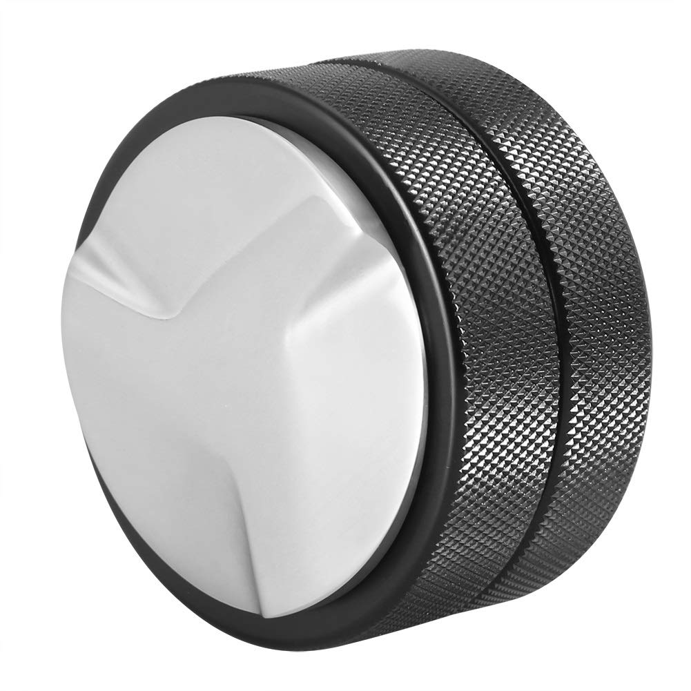 Herramienta de Prensa de Grano de caf/é de Acero Inoxidable Base de Tamper de caf/é de 51 mm Negro Tres Pendientes inclinadas Hazmemejor Manipulador de Grano de caf/é