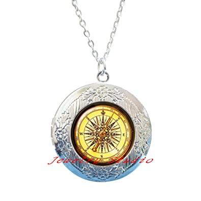 Compass Locket Necklace, christmas gift, best friend Locket
