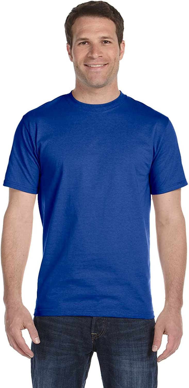 Hanes Men's Comfortsoft T-Shirt, 2 Deep Forest / 2 Deep Royal, S (Pack of 4)