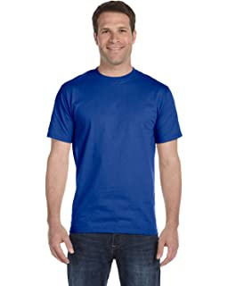 Hanes Mens Comfortsoft 6 Pack Crew Neck Tee Deep Royal S