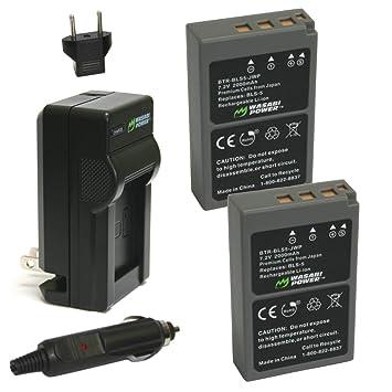 Amazon.com: Wasabi Power Batería y Cargador para Olympus BLS ...