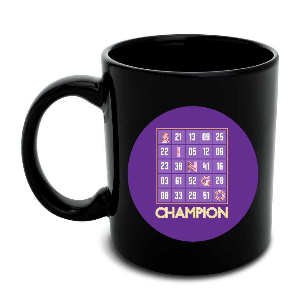 Bingo Champion Black Mug