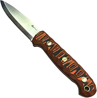 product image for L.T. Wright Handcrafted Knives GNS w/Scandi Grind, 01 Steel, Leather Sheath