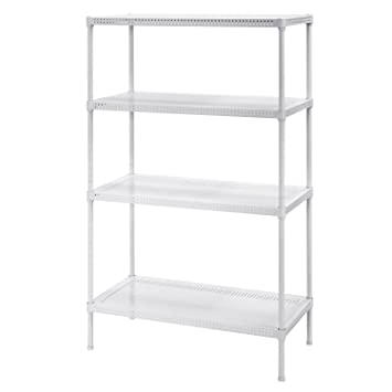 Muscle Rack PWS301447 4W Steel Wire Shelving, 4 Adjustable Shelves, 330 Lb  Per