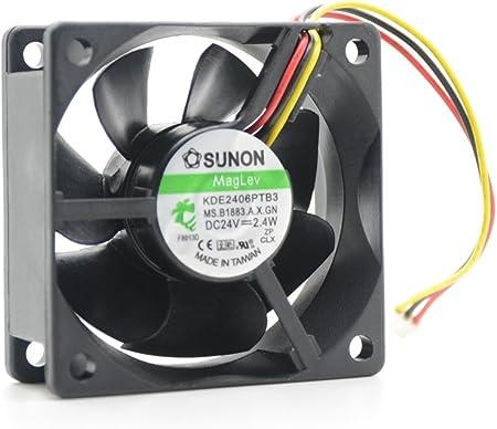 Sunon Lüfter 60x60x25mm  DC 24 KDE2406PTS1 2,6 Watt