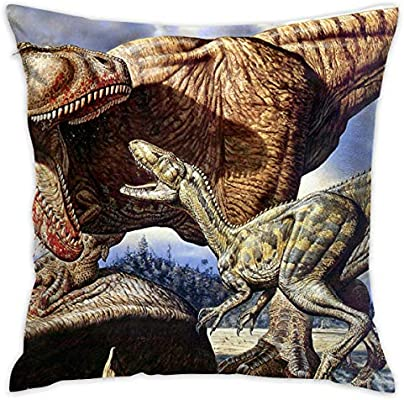 Amazon.com  Retro Dinosaur Throw Pillow Cases Square Flax Cushion Cover for  Sofa Decorative Office Chairs Home Decorative 18x18 Pillowcase  Home    Kitchen 8b814f427
