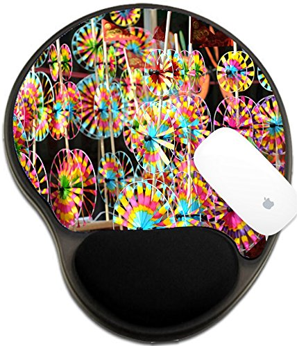 Luxlady Mousepad wrist protected Mouse Pads/Mat with wrist support design IMAGE ID: 23186723 pinwheel Chinese gift during spring festival Dish Pinwheel
