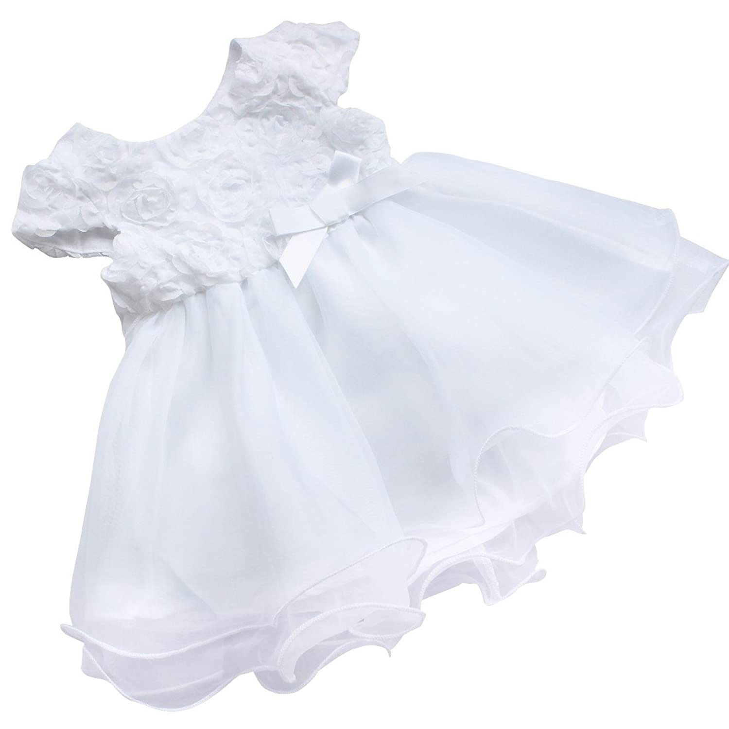 Amazon.com: iEFiEL Baby Girls Rose Flower Dress Baptism Easter Wedding Princess Holiday Dressing up: Clothing