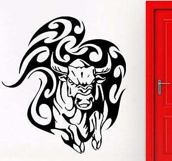 Lvabc 42X47 Cm Toro Pegatinas De Pared Animal Taurina Tatuaje ...