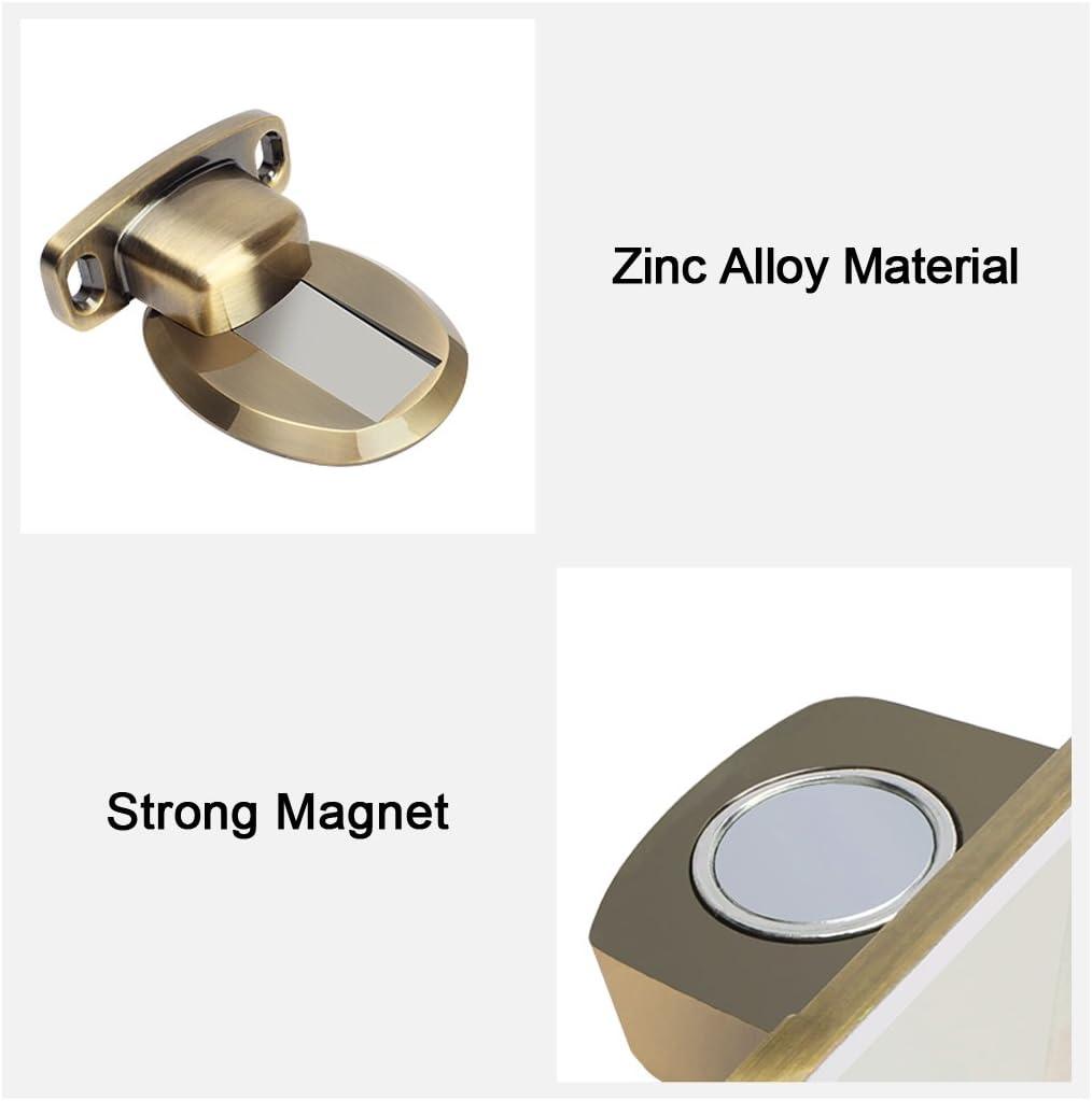 PHOEWON forte magn/étique but/ée de porte en m/étal arr/êt de porte r/ésistant /à la porte avec 3M vis auto-adh/ésives de dissimulation mont/ées au sol 2 Pi/èce Noir