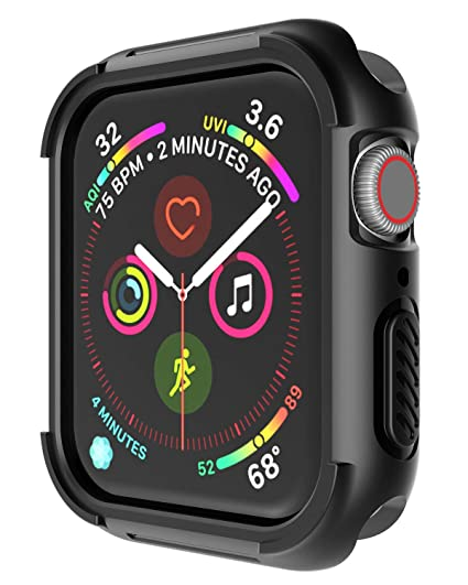 cheap for discount 9f654 d9969 Case for Apple Watch Series 4 Case 40mm Apple Watch 4 Case Half Cover Case  Black TPU+PC Protective Case Half Cover Case Special Designed for Apple ...
