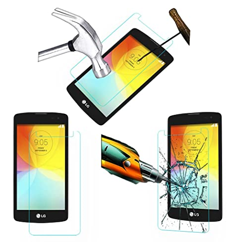 Acm Tempered Glass Screenguard Compatible with Lg L Bello D335 Mobile Screen Guard Scratch Protector Screen guards