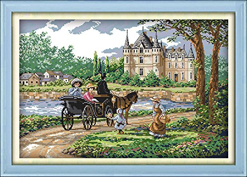 Cross Stitch Kit Girl Baby Certificate Cross Stitch Count Cross Stitch Kits Dmc Thread 144*184stitch 36*43cm