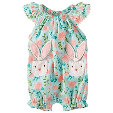 37e312592 Amazon.com: Mud Pie Baby Girl's Bunny Bubble (Infant) Blue 6-9 ...