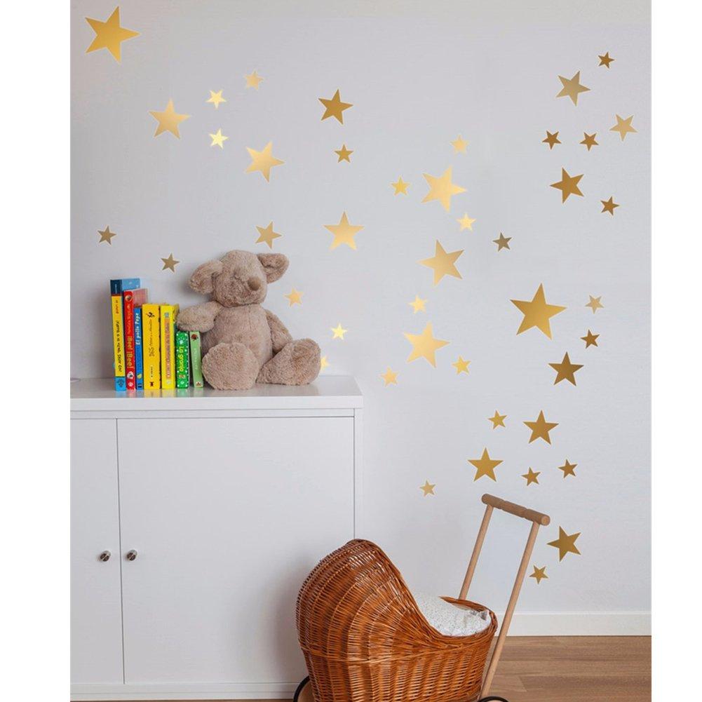 Amazon.com: Mofeng 110pcs Star calcomanía de pared extraíble ...