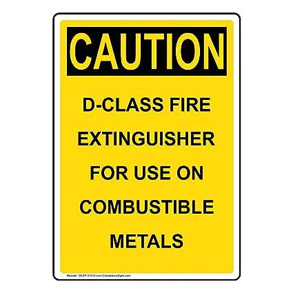 Amazon.com: Extintor de incendios Caution clase D para uso ...