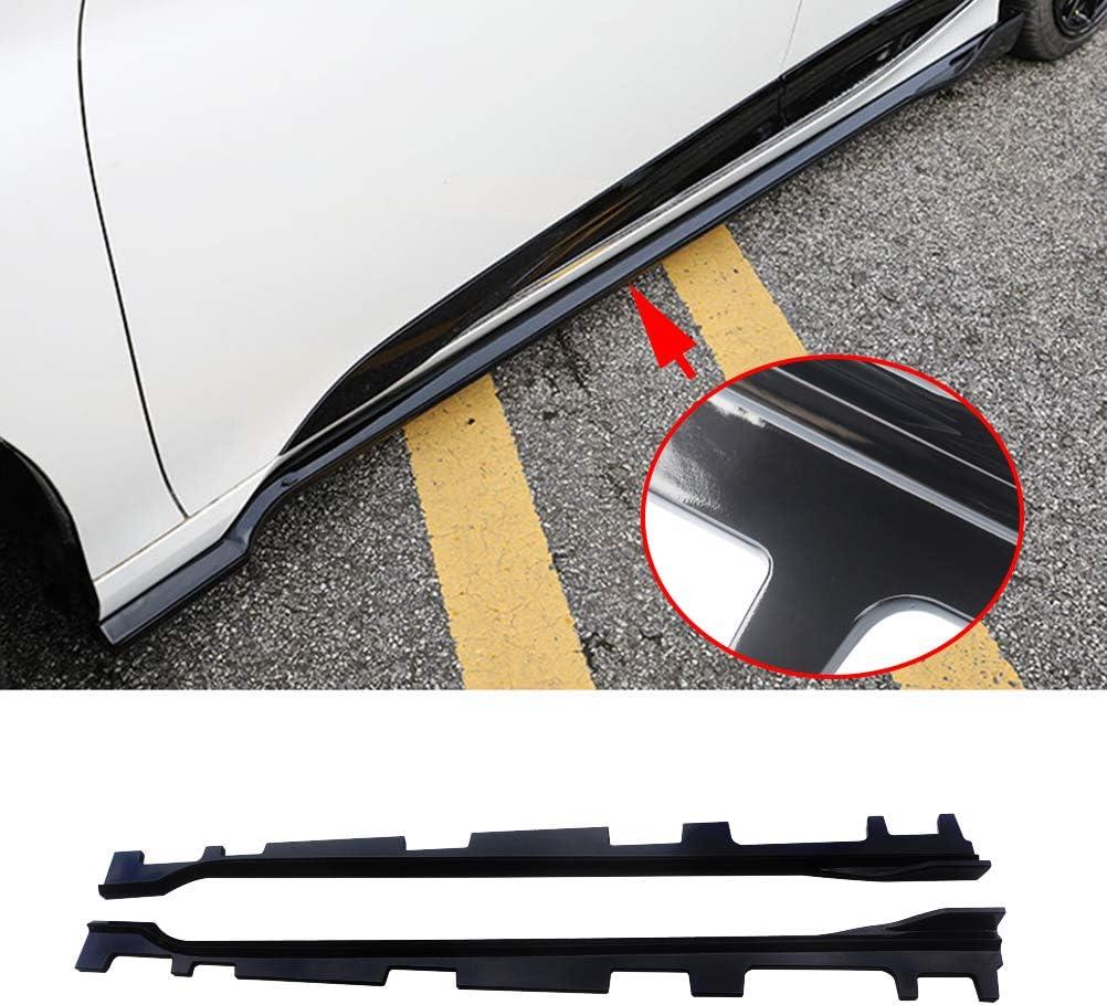 ABS Gloss Black Painted Bottom Line Extensions Splitter NINTE Side Skirt for 2018 2019 Honda Accord
